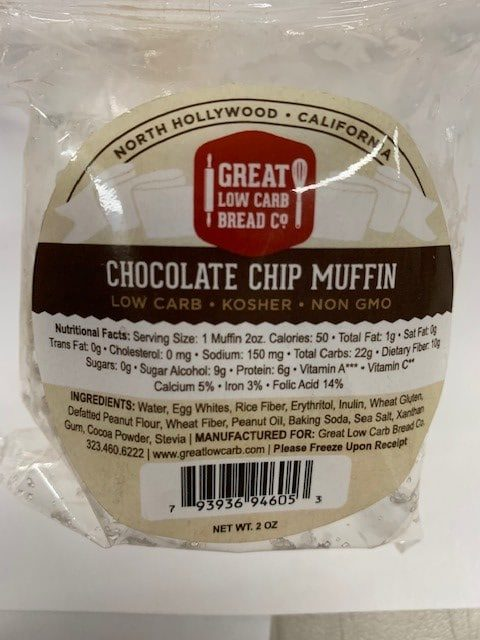 Great Low Carb Chocolate Chip Muffin 2oz