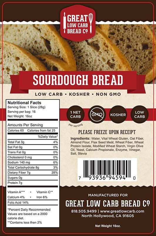 Great Low Carb Sourdough Bread 16oz
