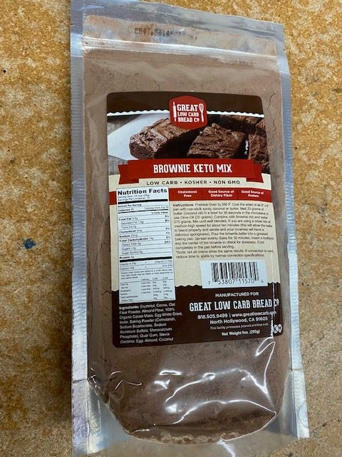 Great Low Carb Keto Brownie Mix 9 OZ