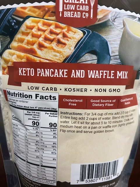 Great Low Carb Keto Pancake And Waffle Mix 9oz