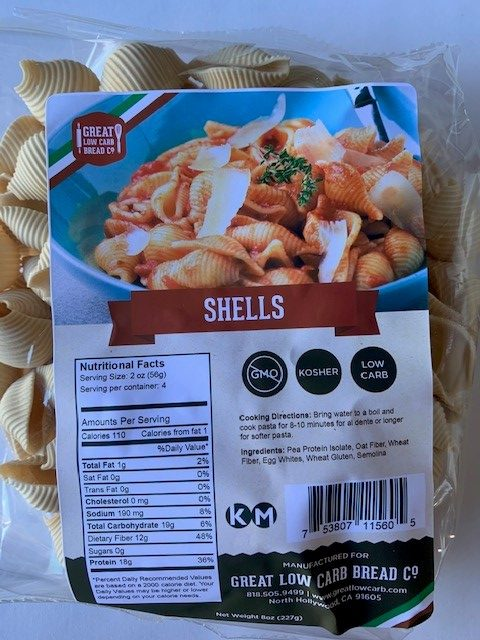 Great Low Carb Shells Pasta 8 Oz.